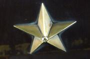 JR九州ななつ星列車の外装の星マークのガラスコーティング