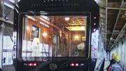 JR九州ななつ星列車の展望車両のガラスコーティング